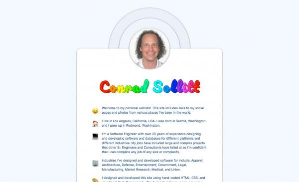 Conrad Sollitt Personal Site