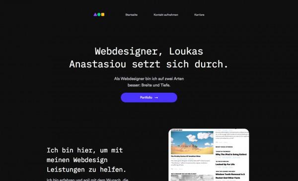 Webdesigner, Loukas Anastasiou setzt sich durch.
