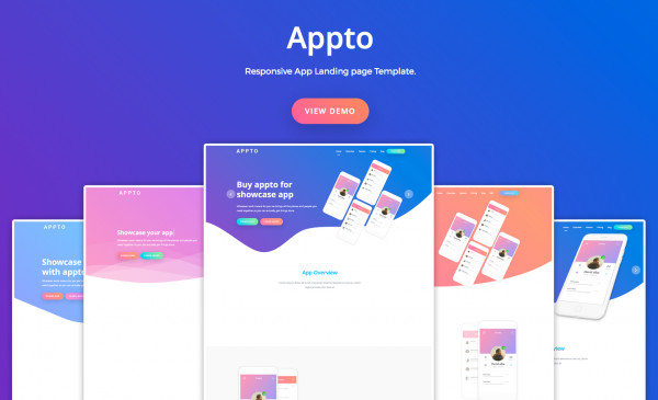 App Landing Page Template