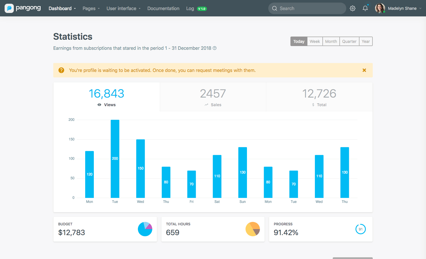 Pangong - Developer-friendly Bootstrap 4 Admin Dashboard Template