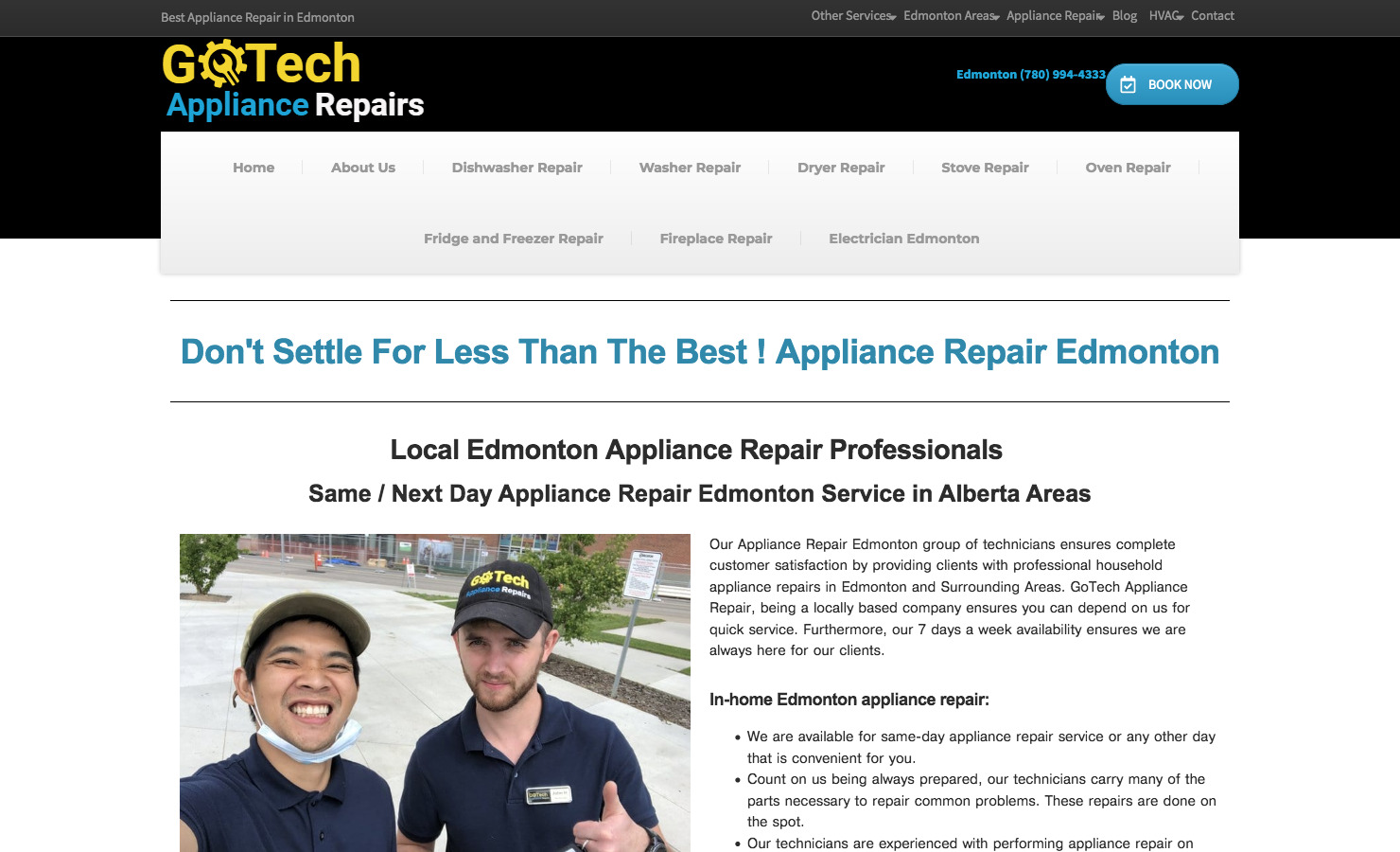 Appliance Repair Edmonton GoTech