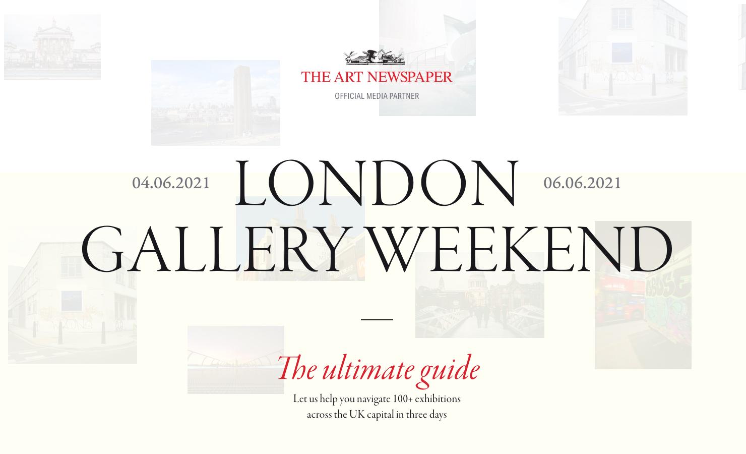 London Gallery Weekend 2021