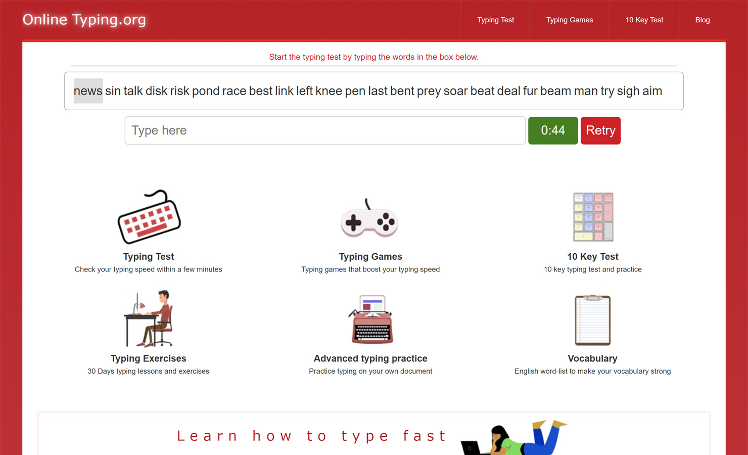 Online Typing Test